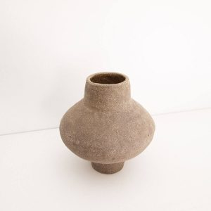 Ash Sand Vase, Sandy texture, 24Ø x H26cm. Working in the RedWoods Shop Online