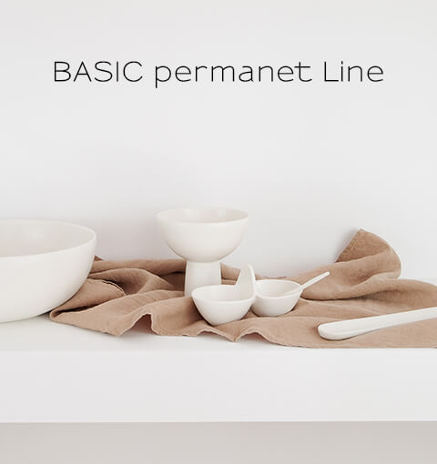 Basic Collection Permanent Line, tableware, handmade ceramic