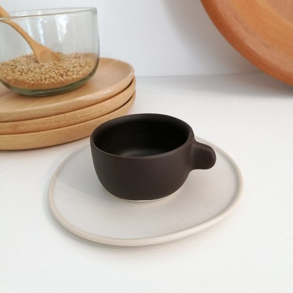 ESPRESSO SHOT CUP, matte cocoa, 100 ml | Handcrafted Ceramics