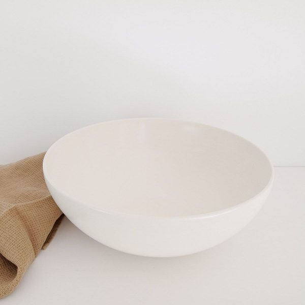 Grand serving bowl, shiny ivory finish, 32Øx12cm, shiny ivory · RedWoods Shop Online, Organic handcrafted tableware