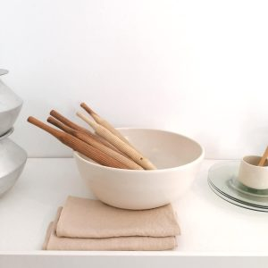 Grand serving bowl, shiny ivory, 32Øx12cm · RedWoods Shop Online, Organic handcrafted tableware