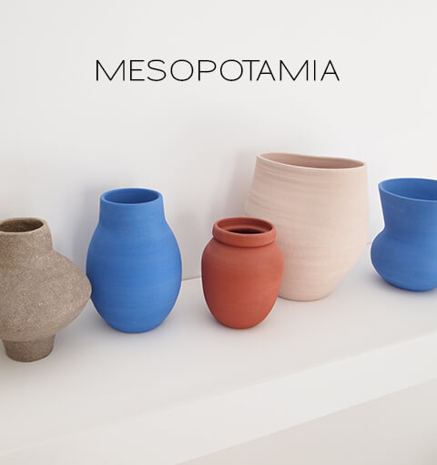 Mesopotamia New Collection Vases, handmade ceramic