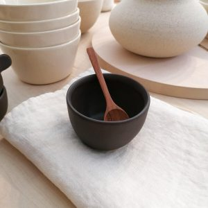 MINI SOFT GLASS, matte cocoa, 150ml. Handmade ceramic tableware.