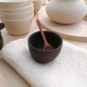 MINI SOFT GLASS, matte cocoa, 150ml. Handmade ceramic tableware.