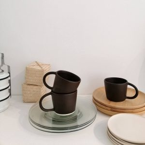BASIC MUG WHIT HANDLE, matte cocoa, 300ml. RedWoods Handmade Ceramic Shop Online