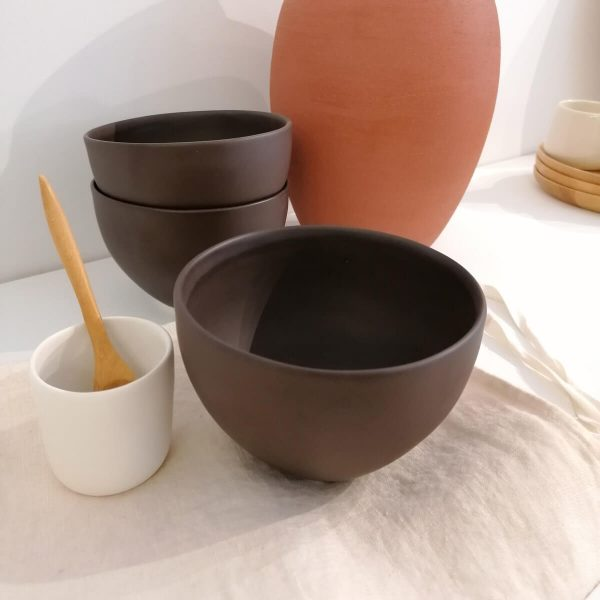 Soft Bowl, matte cocoa, 500 ml, Handcrafted Ceramics Online Store